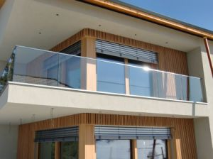 Australia U Channel Profiles Laminated Glass Aluminum Balustrade pictures & photos