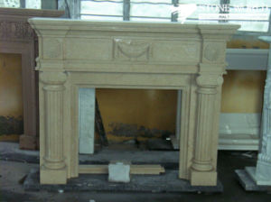 Stone Fireplace Mantel with Marble Granite Limestone Sandstone pictures & photos