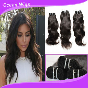 100% Virgin Unprocessed Natural Wave Peruvian Virgin Remy Human Hair Weaving (W-1090 pictures & photos