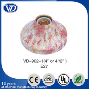 E27 Plastic Flower Design Pendant Lamp Holder Socket Vd-902-1