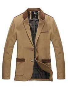Men′s Slim Fit Casual Premium Blazer Jacket Khaki pictures & photos