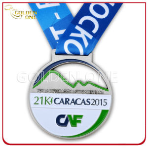 Die Casting Zinc Alloy Sport Medal with Printed Lanyard pictures & photos