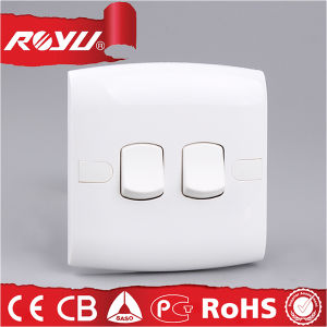 White 2 Gang 2 Way Switch, 1 Gang 2 Way Brand Switch pictures & photos
