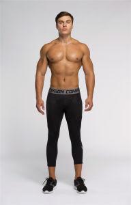 Men′s Gym Professional Digital Printing 3/4 Pants (SP16028)