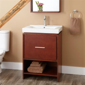 Solid Wood Bathroom Vanity Cabinets for Sanitary Ware pictures & photos