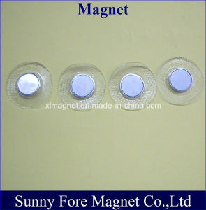 Tailored PVC Cover Round Magnet with Metal Cup Button pictures & photos