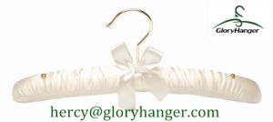 Golden Hook Satin Cloth Hanger pictures & photos