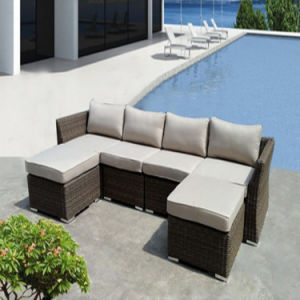 Leisure Modern PE Rattan Sofa Set pictures & photos