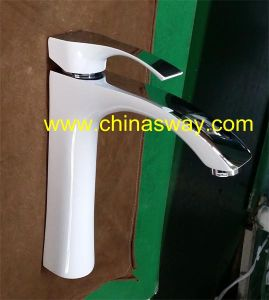 High Basin Mixer, European Style, White Bathroom Faucet (SW-7771-1Q1G) pictures & photos