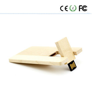 Wooden Card USB 2.0 Flash Memory Stick Pen Drive pictures & photos