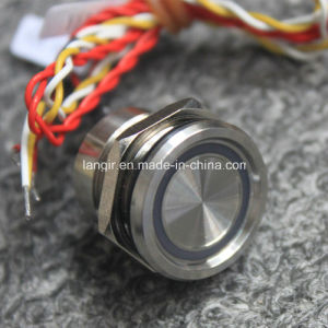 19mm Concave Head Waterproof Stainelss Steel Piezo Switch (PS19BR6, CE, RoHS) pictures & photos