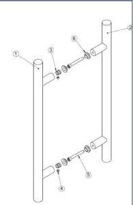 Handle for Sliding Door/Office Door Pull Handle (HR-104) pictures & photos