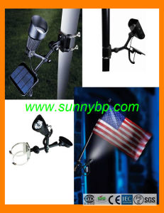 Solar Flag Pole Light for Garden pictures & photos
