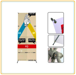 Portable Lightweight X Banner Stand with Printed 80*180cm PVC Graphic pictures & photos