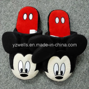Cartoon Animal Plush Indoor Slippers for Men