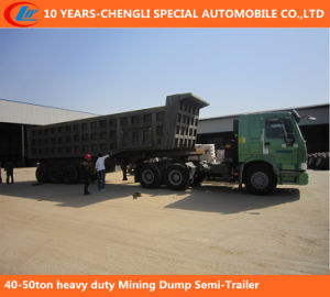 40-50ton Heavy Duty Mining Dump Semi-Trailer pictures & photos