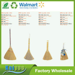 Bamboo Handle Sorghum Straw Corn Broom with Esparto Silvergrass or Ironweed Grass pictures & photos