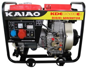 6kw /6.5kw CE Diesel Generator Set Kaiao Brand Steady Excellent Performance pictures & photos