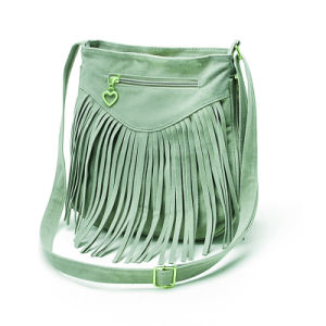 Latest College Girls Suede Shoulder Bags with Tassels pictures & photos