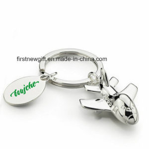 Promotion 3D Deboss Engrave Metal Airplane Keychain with Logo (F1263)