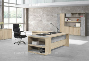 Cheap Wooden Color Melamine Manager Executive Office Table (HF-ZTHH1032) pictures & photos