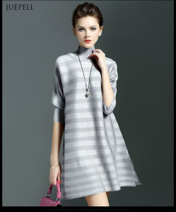 2016 Latest Stripe Lax Casual Dress Designs for Ladies pictures & photos