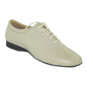 Beige Leather Women′s/Ladies Practice Shoes for Latin/Salsa/Cha-Cha/Tango Dance pictures & photos
