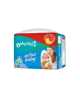 High Absorbency Baby Diapers with Wetness Indicator
