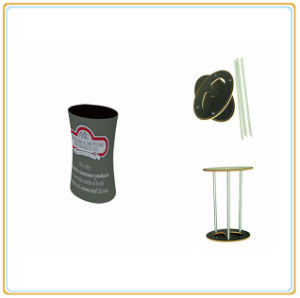 Oval Tabletop Tension Fabric Podium Counter pictures & photos