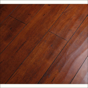 12mm Handscraped Grain with V-Groove Laminate Flooring pictures & photos