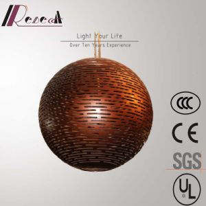 Chinese Style Coffee Fiberglass Pendant Lamp for Hotel Project pictures & photos