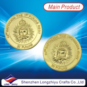 Commemorative Coin Gold Plating Embossed Logo Coin for Souvenir (LZY-1300009) pictures & photos