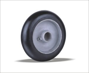 China Goods Wholesale Rubber Wheels Rigid Casters pictures & photos