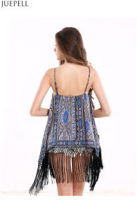 Women New Summer Seaside Resort Fringed National Wild Chiffon Vest Camisole T-Shirt pictures & photos