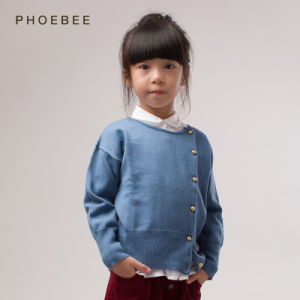 Phoebee 100% Wool Children′s Wear Knitting Girls Cardigan Sweater pictures & photos