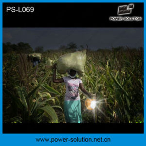 Power Solution Qualified 4500mAh/6V Solar Lantern with Mobile Phone Charger with Solar Light Bulb (PS-L069) pictures & photos