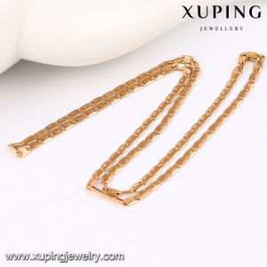 42942 Fashion Charm Simple Rose Gold-Plated Imitation Alloy Copper Jewelry Chain Necklace pictures & photos