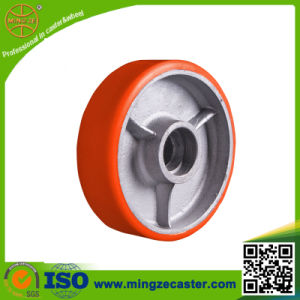 PU Cast Iron Wheel 4inch Roller Bearing Wheel pictures & photos