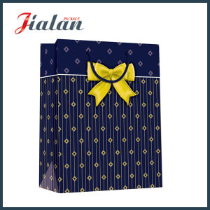 Dots Printed Custom Ribbon Bow Matte Paper Clothes Shopping Bag pictures & photos