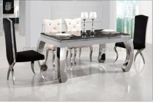 One Rectangle Six Chair and Glass Dining Table for Furniture pictures & photos