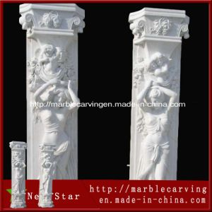 Hand Carved Decorative Modern Outdoor Stone Column pictures & photos