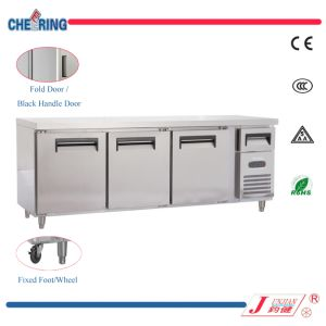 Stainless Steel Worktable Refrigerator, 2.4 M Length Workbench Refrigerator Freezer, Worktable Chiller Cooler Work Bench Fridge pictures & photos