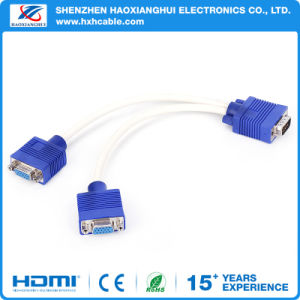 VGA Cable 3+2/3+4/3+6 15 Pin Male to Male Computer Cable pictures & photos