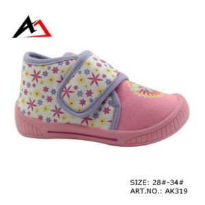 Injection Molding Shoes Casual Canvas Printing for Children (AK319) pictures & photos