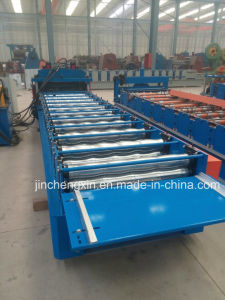 Metal Roofing Colored Tile Sheets Machine with Step and Cutting pictures & photos