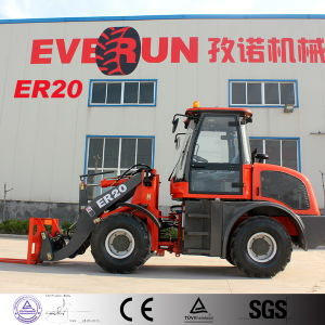2.0 Ton Qingdao Everun Farm Machinery Small Snow Shovel Loader with Tyre Chain pictures & photos