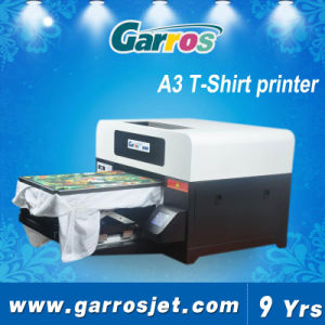 Garros 2016 A3 Digital T-Shirt Flatbed 3D Textile Printing Printer Machine pictures & photos