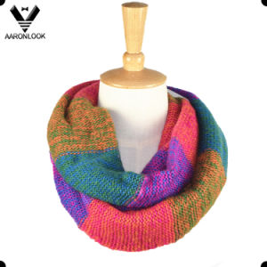 Famous Knitting Town Tonglu High Quality Color Mix Infinity Scarves for Women pictures & photos