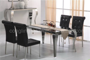Most Famous Stainless Steel and Top Glass Restaurant Furniture pictures & photos