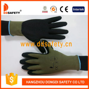 Ddsafety 2017 Sallow Nylon Black Nitrile Glove pictures & photos